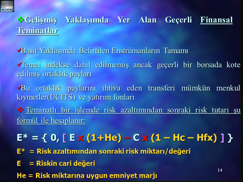 E* = { 0, [ E x (1+He) – C x (1 – Hc – Hfx) ] }